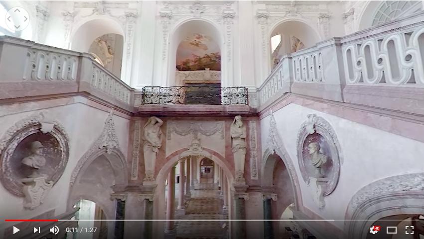 360° Video im Treppenhaus Neues Schloss Schleißheim